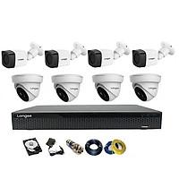 Camera Longse TVI 2.0MP 1080p bộ 8 mắt ( Nhựa) - Hàng chính hãng