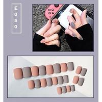 Bộ 24 móng tay giả nail thời trang họa tiết bắt mắt chống thấm nước (E050)