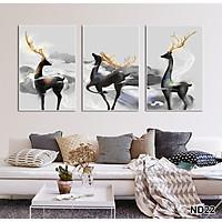Bộ tranh treo tường phong thủy trang trí nội thất đẹp và mới nhất thị trường ĐL 02