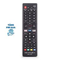 Remote điều khiển cho smart TV LG, Internet TV, tivi thông minh loại ngắn tặng kèm pin