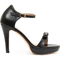 Giày sandal nữ cao gót, cao 10CM, da Microfiber nhập khẩu cao cấp êm ái. Mũi tròn, gót nhọn bọc da đồng màu sang trọng và chắc chắn,trợ đế 2cm phía trước: SD.V06.10F