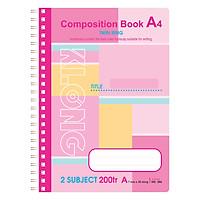 Sổ Lò Xo Kép Composition Book Klong MS 386 (200 Trang)