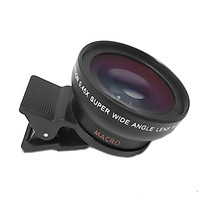 Universal Cell Phone Camera Lens 37mm Thread Smartphone Lens 0.45X 49UV Macro and Wide-angle Lens with Clip