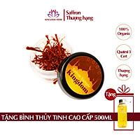 Saffron Kingdom nhụy hoa nghệ tây Iran loại Super Negin thượng hạng (mẫu thử hộp 0.1 gram) - Tặng bình nước thủy tinh cao cấp 500 ml