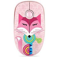 Chuột Không Dây Forter V8 Slient Mouse (Không tiếng ồn) Màu Hồng - Hàng Chính Hãng