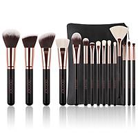 Bộ Cọ Trang Điểm lông thú Docolor 15 Pieces Rose Gold Makeup Brushes Set