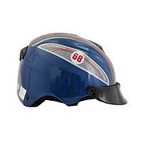 Mũ bảo hiểm nửa đầu không kính chính hãng BKtec, mũ bảo hiểm thời trang,nón bảo hiểm cao cấp