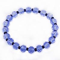 Chuỗi tay pha lê xanh dương cắt giác 8 ly phối hạt thạch anh đen CTFLXDGTAE8 - Vòng chuỗi phong thủy