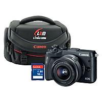 Combo Máy ảnh Canon M6 kit 15-45mm STM - Hàng Chính Hãng + Thẻ 16GB + Túi