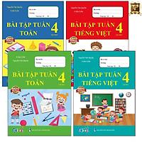 Sách - Combo Bài Tập Tuần Lớp 4 Cả Năm - Toán và Tiếng Việt (4 cuốn)