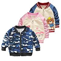 Children's Coat Long-sleeve Baseball Uniform for 0-4 Years Old Kids