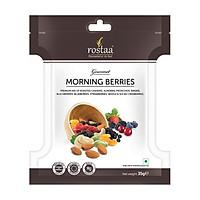 Morning Berries 35gr - Hỗn hợp Hạt hữu cơ điều, hạnh nhân, hạt dẻ, nho khô, mâm xôi, việt quất, dâu tây, nam việt quất sấy khô.- Trái cây sấy khô nhập khẩu Rostaa
