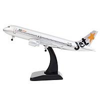 Mô hình máy bay A320 Jetstar (20cm) ( Bạc, có...