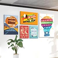 Bộ 5 tranh slogan canvas tạo động lực [trang trí văn phòng] vcb-g