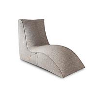GHẾ LƯỜI HẠT XỐP FLAMINGO (Flamingo - indoor beanbag chair) CHẤT LIỆU VẢI NHẬP KHẨU MÀU XÁM - TARUJO