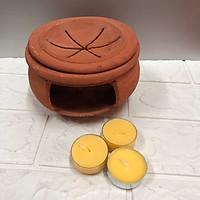 Bếp đốt bồ kết,  tẩy uế, làm lư xông  tinh tươi dầu bằng xã, vỏ chanh tươi,(Tặng 3 nến bơ,) TP1041