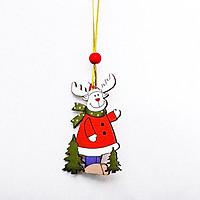 Móc Treo Trang Trí Giáng Sinh Hạt Gỗ Đỏ Siêu Đáng Yêu