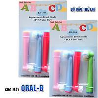 Cho máy Oral-B Braun,  Bộ 4 đầu bàn chải đánh răng điện - Trẻ em, cho mọi loại máy - EB10A