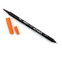 Bút lông hai đầu màu nước Marvy LePlume II 1122 - Brush/ Extra fine tip - Pumpkin (87)