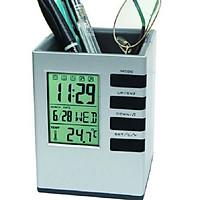 Đồng hồ để bàn kiêm hộp đựng bút V1