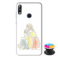 Ốp lưng điện thoại Asus Zenfone Max Pro M2 hình Tình Yêu Của Em tặng kèm giá đỡ điện thoại iCase xinh xắn - Hàng chính hãng