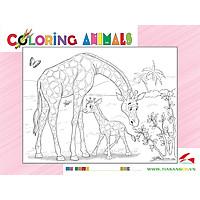 Xếp hình Tia Sáng Hươu mẹ và hươu con   (30 Mảnh Ghép) - Tặng kèm tranh tô màu cho bé