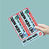 Tiết kiệm nước - Single Sticker hình dán lẻ