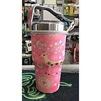 Túi xách cho ly giữ nhiệt 900ml mẫu nai hồng