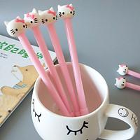 Bộ 4 bút gel mèo hồng dễ thương