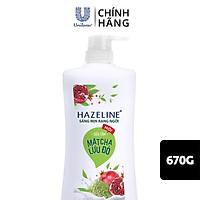 Sữa Tắm Hazeline Matcha & Lựu Đỏ - Sáng Mịn Đều Màu (Chai 670g)