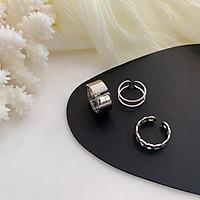 Set 3 nhẫn phong cách vintage hợp thời trang cho nam/nữ-N008