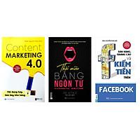 Combo 3 cuốn sách:Content Marketing 4.0: Nội dung hay, bán bay kho hàng-Thôi miên bằng ngôn từ-Bán hàng,quảng cáo và kiếm tiền trên Facebooktv