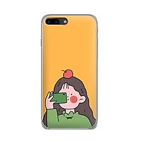 Ốp lưng dẻo cho điện thoại Iphone 7 Plus/Iphone 8 Plus - 01014 7899 GIRL01 - in hình chibi dễ thương - Hàng Chính Hãng