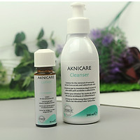 Bộ sản phẩm cho da mụn bọc, mụn viêm, giảm nhờn Aknicare (Sữa rửa mặt + Lotion)