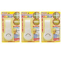 Combo 3 Khóa ngăn kéo, tủ lạnh bảo vệ trẻ em nội địa Nhật Bản