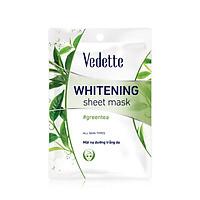 Mặt nạ giấy dưỡng trắng da trà xanh Vedette Whitening Mask Green Tea 22ml