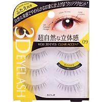Lông mi giả Koji 3D Eyes 09 Clear Accent (cho mắt 2 mí)