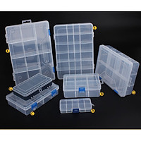 Household Vehicle-mounted Storage Box Plastic Container for Tool Electronic Components Specification:E type 24 grid(large size) -0.31kg