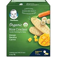 Bánh Gạo Ăn Dặm Gerber Rice Cracker Chuối Xoài Cà Rốt 48g