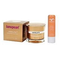 Kem trắng da, mờ nám chống lão hóa Lanopearl Himalaya Herbal Whitening Cream LB34 50ml + Tặng ngay 1 son dưỡng môi nhau thai cừu Rebrith