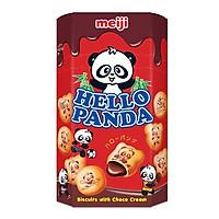 Bánh quy nhân sô cô la Meiji HELLO PAND (50g/ hộp)X10 chiếc