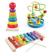 Combo CB007  đồ chơi gỗ cho trẻ  đồ chơi giáo dục