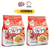 Combo 02 gói 700gr Ngũ cốc trái cây Calbee Nhật Bản