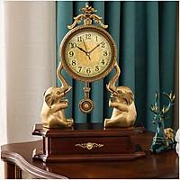 Đồng hồ để bàn voi đồng DH28
