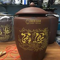 Hũ đựng gạo 10kg gốm sứ Gia Hưng Bát Tràng