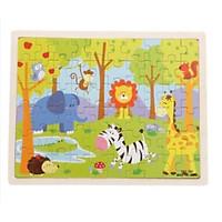 Đồ chơi tranh ghép hình 60 miếng gỗ puzzle KB216038, Bộ xếp hình 10 chủ đề cho bé