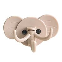 Set 2 Móc treo đồ đa năng3 chạcdán tường hình con voi chịu lực tốt sử dụng cho phòng ngủ, phòng tắm, nhà bếp tiện lợi