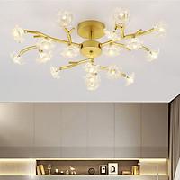 Đèn chùm pha lê PAKER 3 màu ánh sáng trang trí nội thất hiện đại - kèm bóng LED chuyên dụng