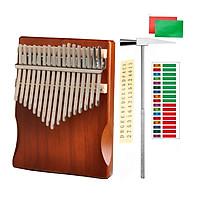 Đàn Kalimba 17 phím gỗ nguyên khối Mahagony PJLIM72
