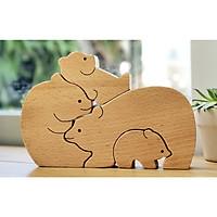 Đồ trang trí bằng gỗ - Gia đình nhà gấu